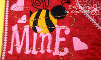 BEE MINE Valentine Mug Mat/Mug Rug - INSTANT DOWNOAD - Embroidery by EdytheAnne - 2