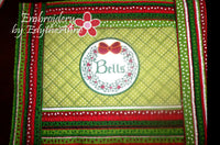 WORDS OF CHRISTMAS PLACE MAT SET  In The Hoop - INSTANT DOWNLOAD - Embroidery by EdytheAnne - 5