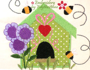 BIRDS AND BEES Machine Embroidery Designs - Digital Download