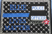 ALL LIVES MATTER...BLUE LIVES MATTER Set of 2 Designs and 2 Sizes.  In The Hoop Machine Embroidered Mug Mat/Mug Rug.  - Digital File - Instant Download - Embroidery by EdytheAnne - 3