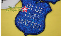 BLUE LIVES MATTER KEY FOBS - 6 designs -  INSTANT DOWNLOAD - Embroidery by EdytheAnne - 2