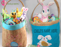 EASTER BASKET Machine Embroidery Design - DIGITAL DOWNLOAD