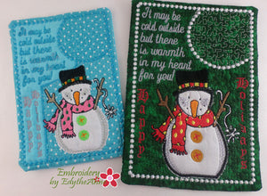 SNOWMAN WARM HEART WHIMSICAL MUG MATS - 2 Sizes Included - DIGITAL DOWNLOAD