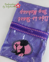 COSMETIC ZIPPERED SEE THROUGH BAG-In The Hoop Machine Embroidery - Digital Download
