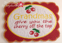 MOTHER'S DAY SET OF TWO for Mom & Grandma! In The Hoop Embroidered Mug Mat/Mug Rug  - Digital Download