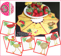 CHICKEN SALAD CENTERPIECE w/ MATCHING MUG MATS - Digital Download