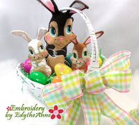 CHOCOLATE BUNNY STUFFIES- Completely done In The Hoop Machine Embroidery Designs
