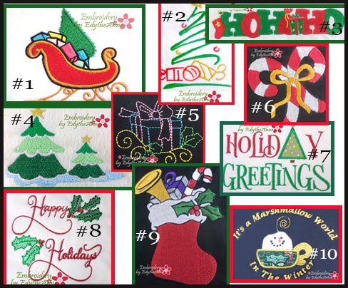 CHRISTMAS ELEMENTS-Set of 10