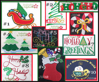 CHRISTMAS MACHINE EMBROIDERY DESIGNS AND ELEMENTS
