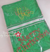 HOLIDAY ZIPPERED SEE THROUGH BAGS-Set of 2 Completed In The Hoop Machine Embroidery - Instant Download