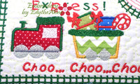 CHRISTMAS EXPRESS In The Hoop Embroidered Mug Mat Designs.   - Digital File - Instant Download - Embroidery by EdytheAnne - 3