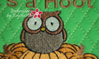 HAPPY FALL MUG MAT/MUG RUG In The Hoop Embroidery Design - Embroidery by EdytheAnne - 3