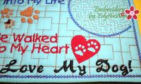 I LOVE MY DOG In The Hoop Embroidered Mug Mat/Mug Rug.  Easy and quick to stitch.  - Digital File - Instant Download - Embroidery by EdytheAnne - 4