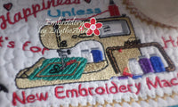 EMBROIDERY HAPPINESS Whimsical In The Hoop Embroidered Mug Mat Designs.   - Digital File - Instant Download - Embroidery by EdytheAnne - 2