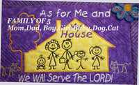 AS FOR ME AND MY HOUSE WE WILL SERVE THE LORD Personalized Place Mat - Embroidery by EdytheAnne - 7