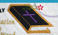 PASTOR APPRECIATION -This is an ITH Embroidered Mug Mat/Mug Rug.  - Digital File - Instant Download - Embroidery by EdytheAnne - 4