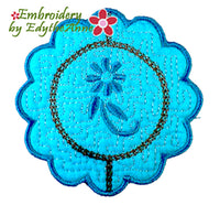 OH SO GRACEFULLY ELEGANT COASTER - - IN THE HOOP MACHINE EMBROIDERY-DIGITAL DOWNLOAD