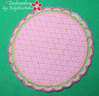 MATCHING COFFEE TIME COASTERS- In The Hoop Machine Embroidery