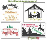 CHRISTMAS DESIGNS BUNDLE-Set of 4 Machine Embroidery Designs