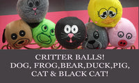 CRITTER BALLS STUFFIES. Machine Embroidered SEVEN different faces. In The Hoop Embroidery Designs. Instant Download