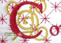HE SHALL BE CALLED Mug Mat/Mug Rug set of Four -  In The Hoop Machine Embroidery