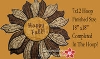 HAPPY FALL TABLE TOPPER In The Hoop Project -INSTANT DOWNLOAD