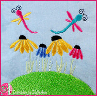 DRAGONS IN MY GARDEN! Machine Embroidery Design - Digital Download