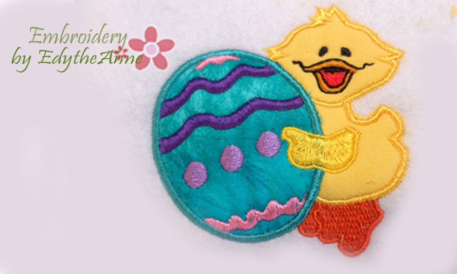 EASTER EGG/CHICK APPLIQUE - Embroidery by EdytheAnne