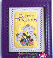 HIDDEN TREASURES EASTER CANVAS ART Frameable Canvas-  In The Hoop Machine Embroidery