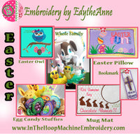 EASTER PROJECTS & MACHINE EMBROIDERY DESIGNS-Free Shipping