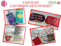 EASY PEASY LAST MINUTE GIFTS TO MAKE All In The Hoop-SAVE ON SET-  Digital Downloads
