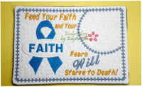 "CANCER AWARENESS includes both ""FAITH"" & ""HOPE"" ribbon designs. Available in two sizes. INSTANT DOWNLOAD NOW - Embroidery by EdytheAnne - 4"