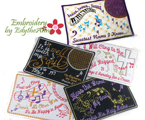 BUNDLE of FAITH BASED MUSIC THEMED MUG MATS -Save 10% on Bundle- Digital Downloads