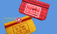 ZIPPERED BAGS Faith Based  Set of two - UPDATED -  INSTANT DOWNLOAD