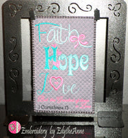 FAITH, HOPE, LOVE Mug Mat & Word Art -  Digital Download