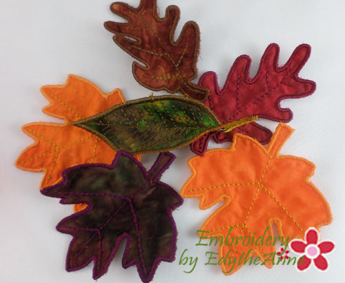 IN THE HOOP MACHINE EMBROIDERY FALL LEAVES