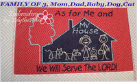AS FOR ME AND MY HOUSE WE WILL SERVE THE LORD Personalized Place Mat - Embroidery by EdytheAnne - 5