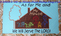 AS FOR ME AND MY HOUSE WE WILL SERVE THE LORD Personalized Place Mat - Embroidery by EdytheAnne - 4