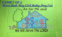 AS FOR ME AND MY HOUSE WE WILL SERVE THE LORD Personalized Place Mat - Embroidery by EdytheAnne - 6