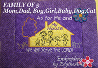 AS FOR ME AND MY HOUSE WE WILL SERVE THE LORD Personalized Place Mat