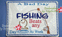 FISHERMAN SPORTS MUG MAT 2 SIZES 2 DESIGNS - INSTANT DOWNLOAD