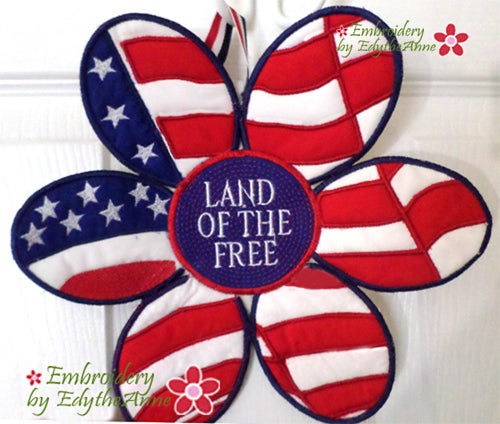 U.S. FLAG DOOR HANGER In The Hoop Project -DIGITAL DOWNLOAD