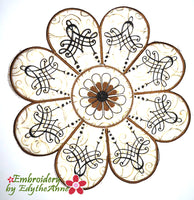 FLEUR CENTERPIECE SET In The Hoop Machine Embroidery