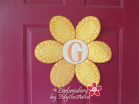 FLOWER POWER DOOR HANGER In The Hoop Project -DIGITAL DOWNLOAD