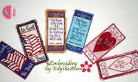 Machine Embroidery Fringe Bookmarks