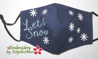 LET IT SNOW In The Hoop Adult & Child Sizes- Digital Download