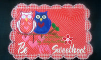 Be My SweetHoot Valentine Mug Mat/Mug Rug 2 Versions. 2 Sizes - INSTANT DOWNOAD