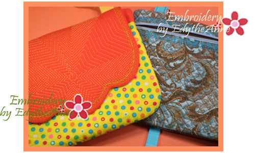 STARBURST QUILTED BAG  In The Hoop Embroidery No Manual Sewing!  -INSTANT DOWNLOAD - Embroidery by EdytheAnne - 1