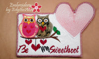 Be My SweetHoot Valentine Mug Mat/Mug Rug 2 Versions. 2 Sizes - INSTANT DOWNOAD - Embroidery by EdytheAnne - 4