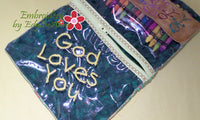 Back to School & God Loves You CRAYON/PENCIL POUCH -Set of 2 Completed In The Hoop Machine Embroidery - Instant Download - Embroidery by EdytheAnne - 5